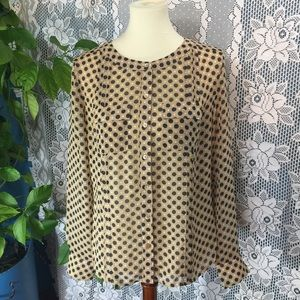 Ann Taylor Spotted Blouse